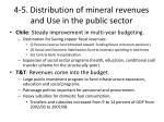 4 5 distribution of mineral revenues and use in the public sector