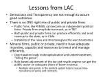 lessons from lac