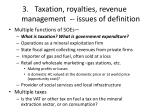 taxation royalties revenue management issues of definition