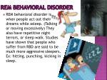 rem behavioral disorder
