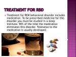 treatment for rbd