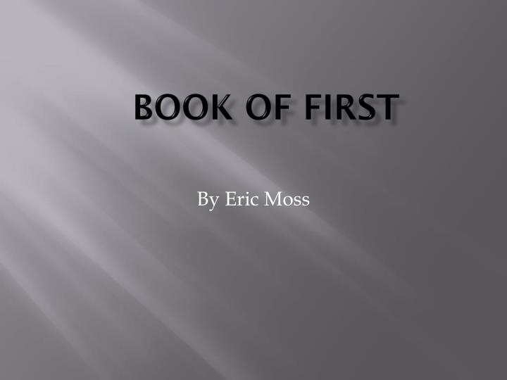 book of first n.