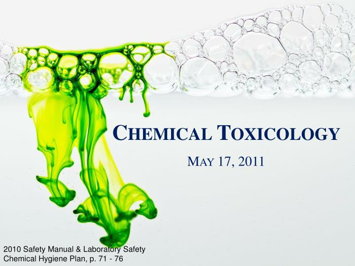 chemical toxicology n.