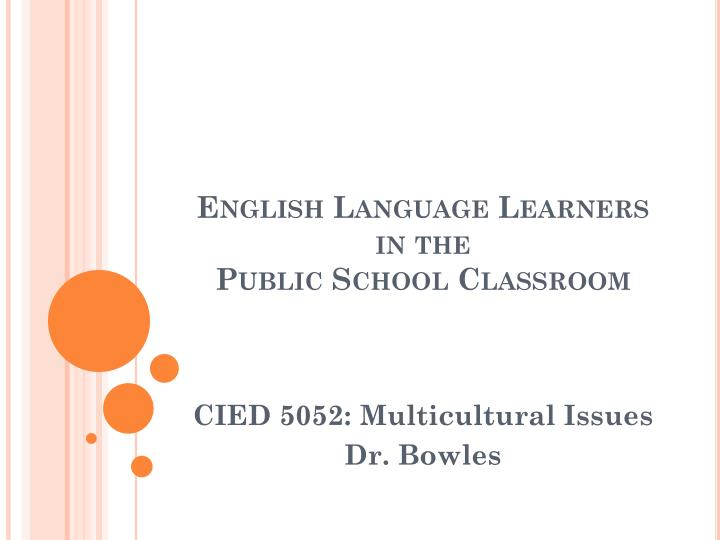 english language learners in the public school classroom n.