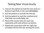 testing near visual acuity