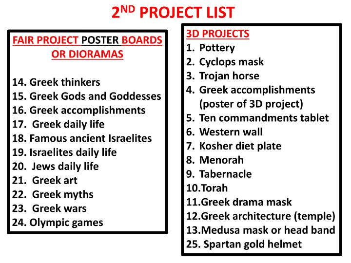PPT - FAIR PROJECT POSTER BOARDS OR DIORAMAS 14  Greek