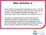 main activities 2