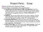 project parts essay