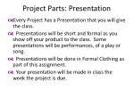 project parts presentation