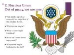 e pluribus unum out of many we are one