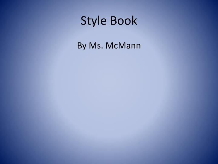 style book n.