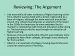 reviewing the argument
