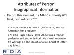attributes of person biographical information1
