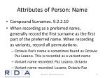 attributes of person name