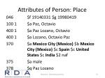 attributes of person place1