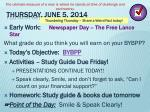 thursday june 5 2014