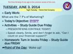 tuesday june 3 2014