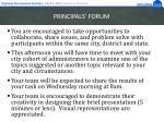 principals forum