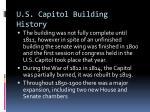 u s capitol building history