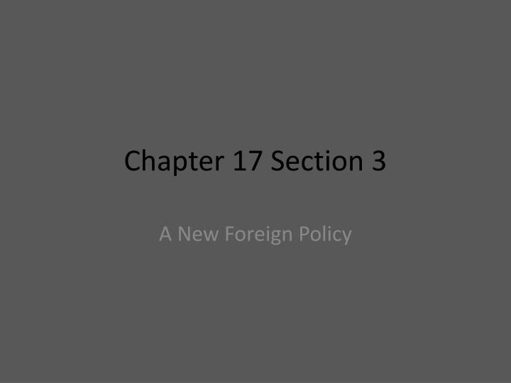 chapter 17 section 3 n.