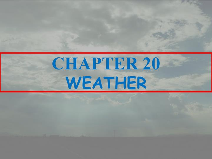 chapter 20 weather n.