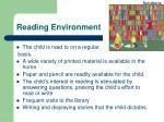 reading environment