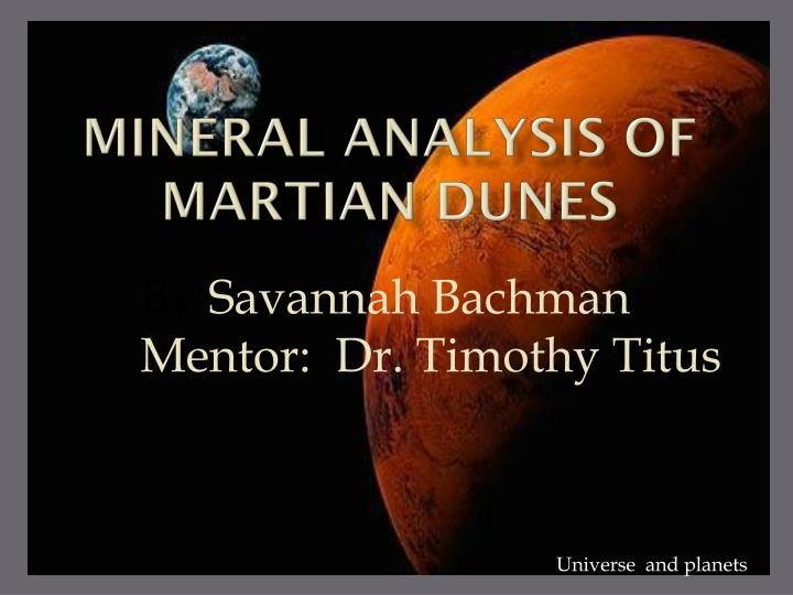 mineral analysis of martian dunes n.