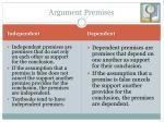 argument premises