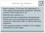 sentence by sentence