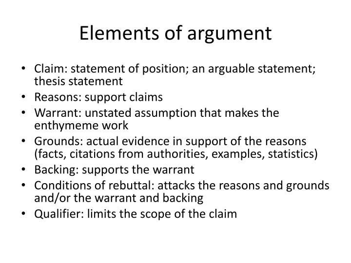 what makes a claim arguable
