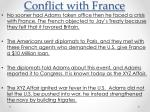 conflict with france