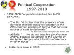 political cooperation 1997 2010