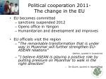 political cooperation 2011 the change in the eu