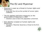 the eu and myanmar