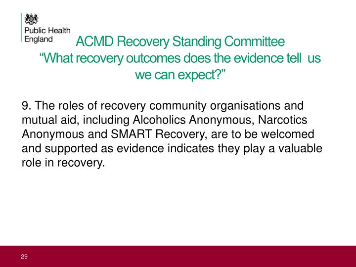 ACMD Recovery Standing Committee