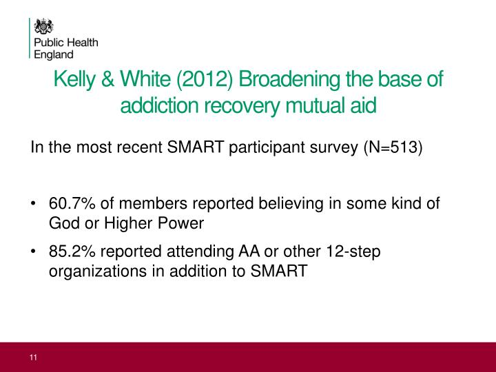 Kelly & White (2012) Broadening the base of addiction recovery mutual aid
