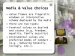 media value choices