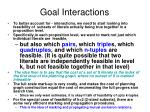 goal interactions