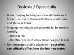 dyslexia dyscalculia
