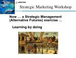 now a strategic management alternative futures exercise learning by doing