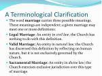a terminological clarification