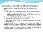 excursus the idea of natural law