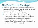 the two ends of marriage1