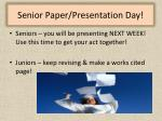 senior paper presentation day