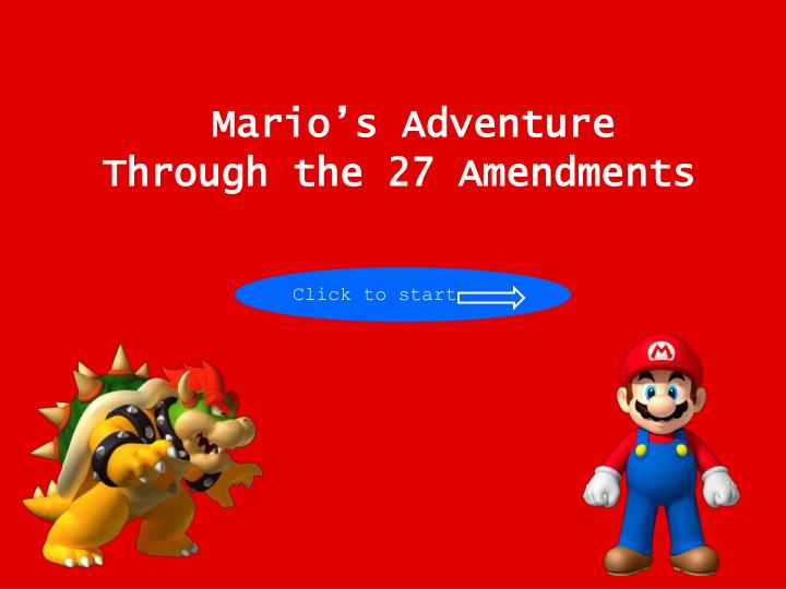 mario s adventure through the 27 amendments n.