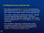 cardiopulmonary exercise test