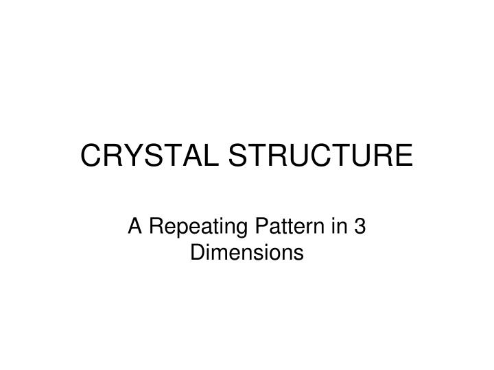 crystal structure n.