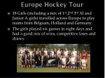 europe hockey tour
