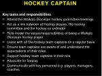 hockey captain