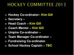 hockey committee 201 3